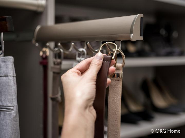 reach-in closets pullout belt rod