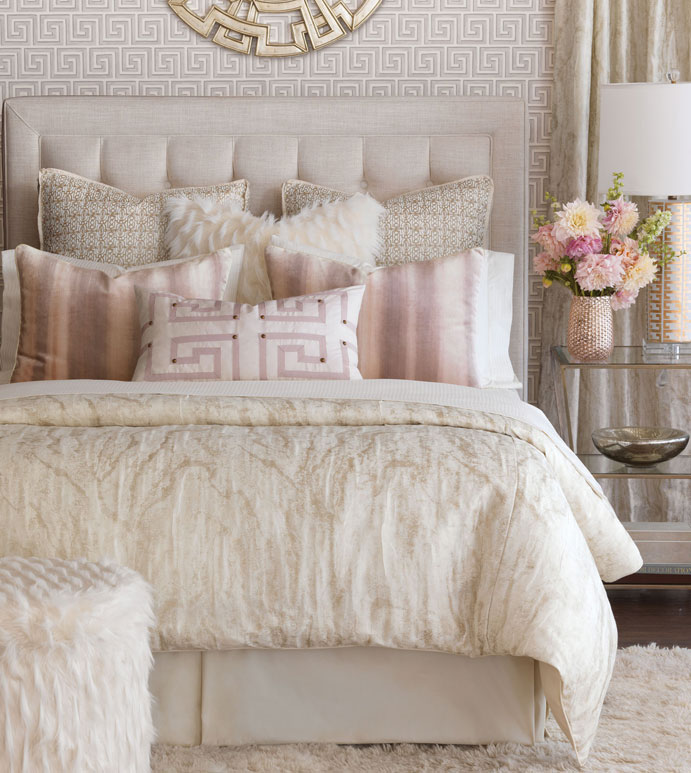 luxurious bed accents