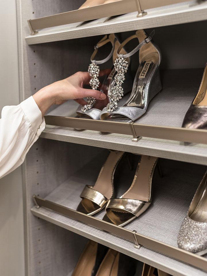 closet organization shoe rack