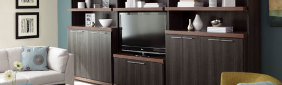 How to Organize the Open Shelves on Your Entertainment Center
