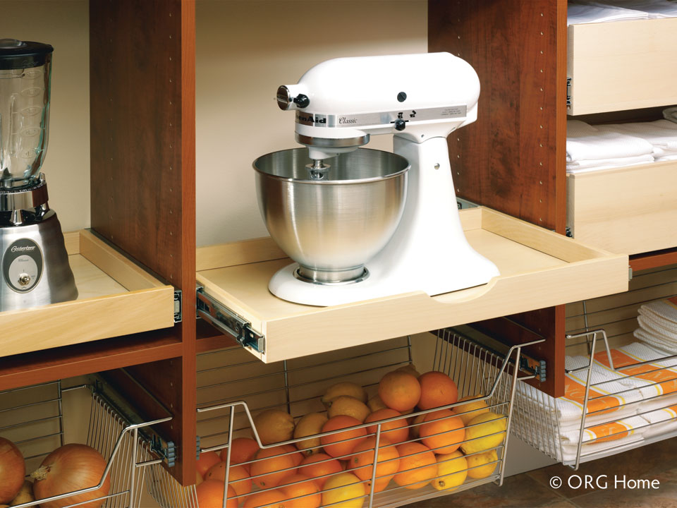 pullout trays in pantry