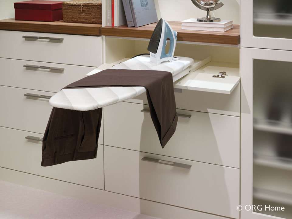 retractable ironing board organizing tips