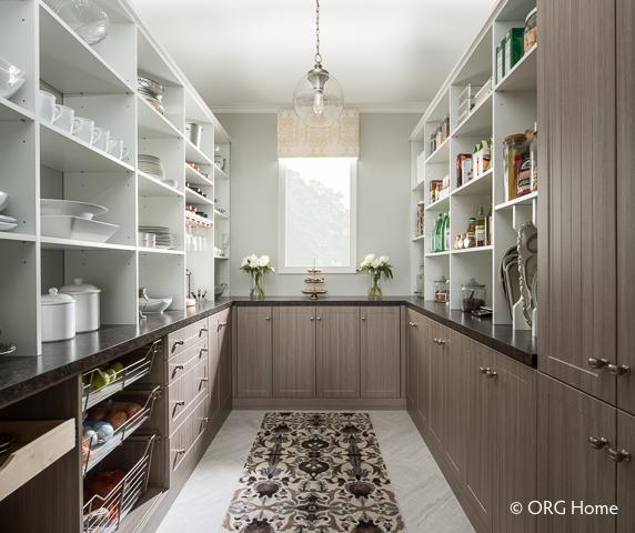 a beautiful, organized pantry