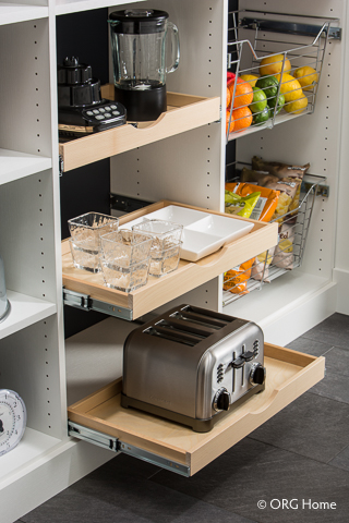 appliance storage in pantry