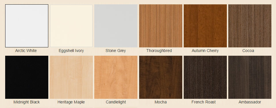 color swatches available in custom closet design process