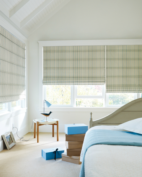 Roman Shades with EasyRise™ cord loop by Hunter Douglas